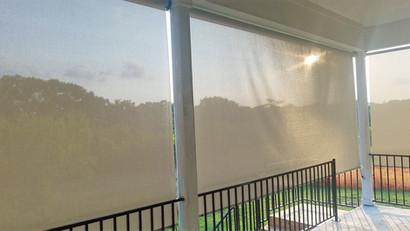 Leander Texas roll up sun shades.
