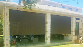 Outdoor sun shades for patio brown fabric.