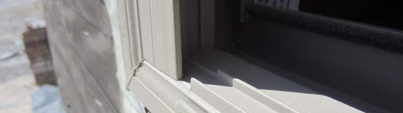 Weep hole for vinyl windows.