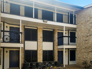2017 San Marcos TX Apartment solar screen project.