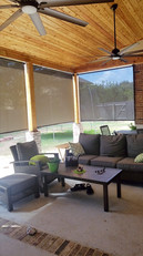 Outdoor blinds for porch and decks.