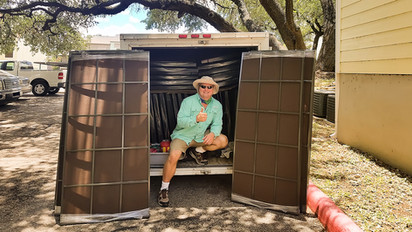 New Braunsfels TX Apartment solar screens with grids.
