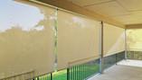 Beige solar fabric color outdoor patio screens  Leander TX.