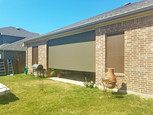 Round Rock TX sun shades for the patio brown shade fabric.