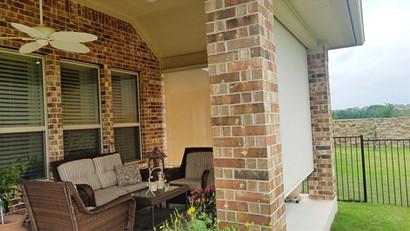 Georgetown Texas outdoor roller blinds.