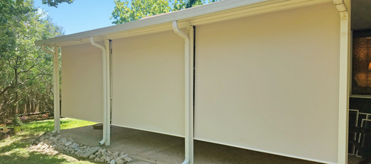 85 in tall outdoor roller shades.