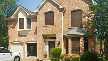 Round Rock TX home is now wearing my solar screens made from Mocha 80%, Tan frame.