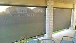 Georgetown Texas retractable patio shade.