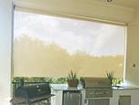 Leander Texas outside shades Beige sun fabric color.