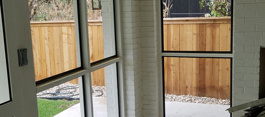 Insect screens for wood framed patios.