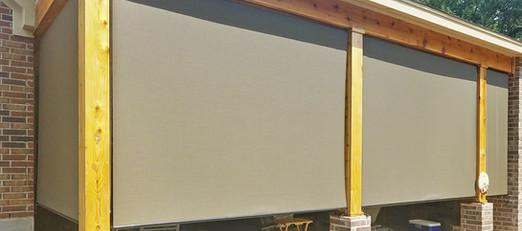 Outdoor solar shades transformed this patio.