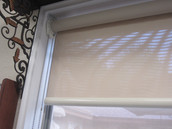 Interior office window covering.
