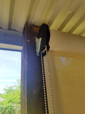 Outdoor blinds for porch Cedar Park Texas.
