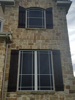 solar window screens with grid pattern.j