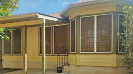 North Austin home now benefits from my solar screens. Mocha 80% White frame.