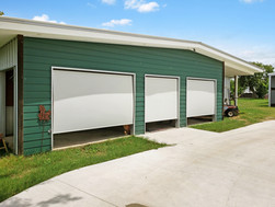 Grey White solar control fabric Austin TX exterior patio shades.