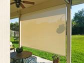Pflugerville outdoor sun shades Beige White sun fabric.