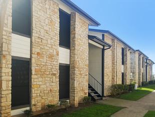 San Antonio Texas Apartment solar window screens.