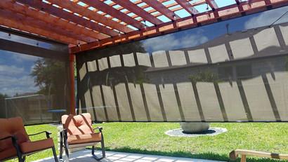 Round Rock TX outdoor patio blinds.