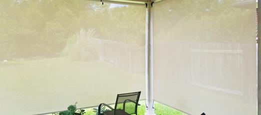 Grey / White 97% outdoor sun shades.