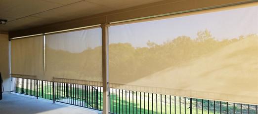 Outdoor roller shades Austin Texas 2020 install.