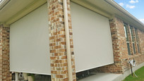 Beige color outdoor shades Georgetown Texas.