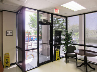 Commercial Austin tx solar screens. Interior view.