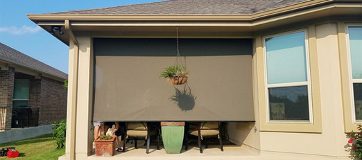 My New Brown 97% fabric sun shades for patio.