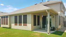 Austin TX home with all windows shaded using  my Mocha Tan solar screens.