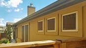This home in Georgetown TX has all of its windows shaded with my solar screens.  Mocha 80%, Tan frame.