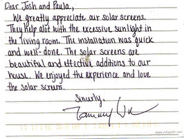Solar Window Screens Customer reviews (4