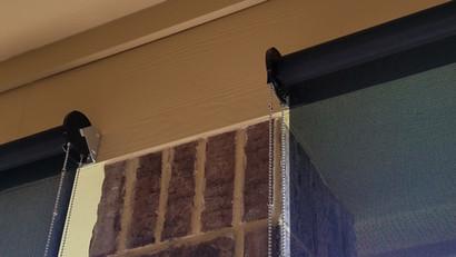 Leander Texas outdoor roller blinds.