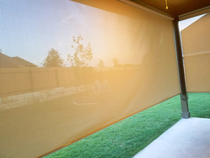 Outdoor blinds for porch Austin Texas.