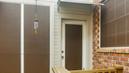 Mocha 90% shade screen for swing door.