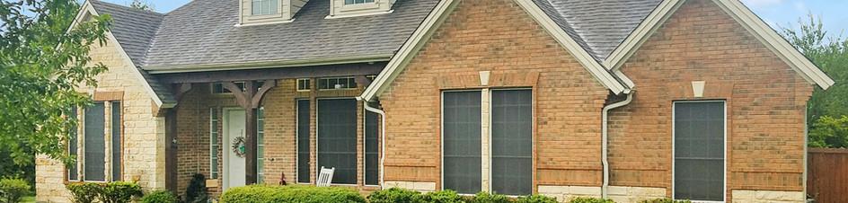 No solar shade screens for the windows leading into the attic.