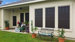 Chocolate Brown 90% solar screen for door.