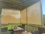 Cedar Park Texas exterior sun shades Beige fabric color.