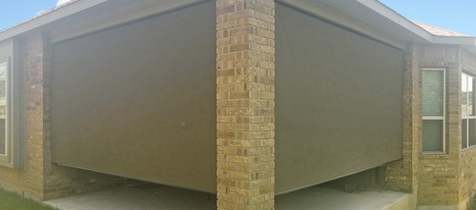New Brown 97% Austin TX patio screens.