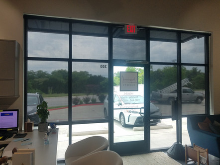 Black 97% interior commercial window coverings.