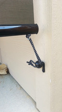 Sun shades for patio tie down hook.