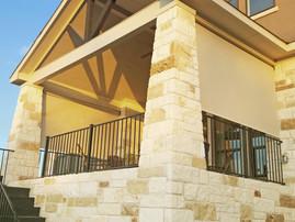 Sun shades for decks Austin Texas Beige sun shade fabric.