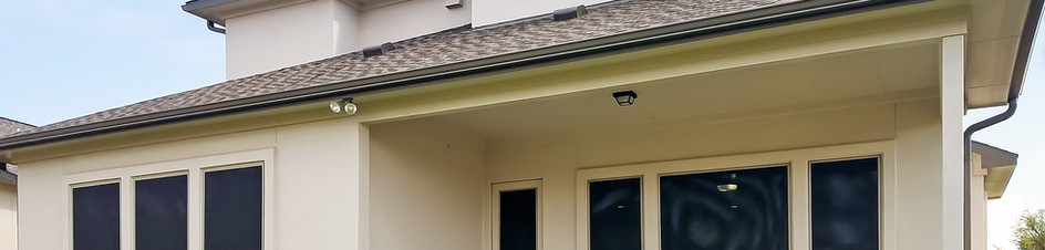 Solar shade for the back door.