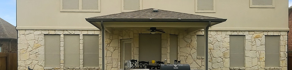 90% Stucco fabric swing out patio door.