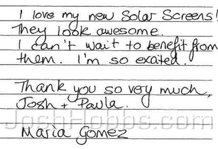 2006-07 Austin TX Solar Screen Reviews (