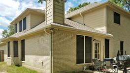 Choc 80% White solar screen installation in South Austin.
