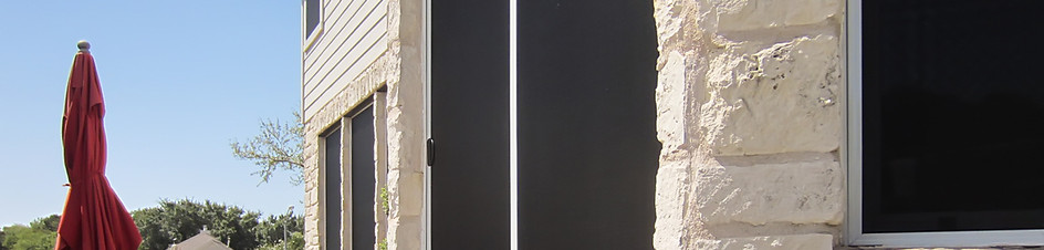 Sliding doors can get shaded with custom-built solar screen sliding doors.