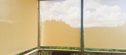 My manual roller shades for the patio are great!