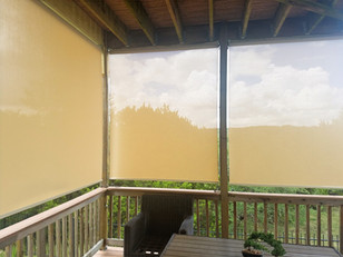 Outdoor roll up blinds  Leander TX.