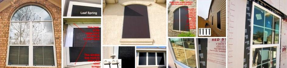 Austin Texas how I install solar screens for windows.
