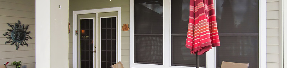 Even with a patio covering, these doors are now shaded from the sun.